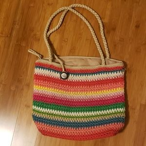 The Sak Rainbow Crocheted Purse